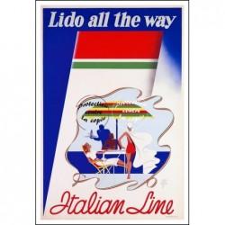 BATEAU:ITALIAN LINE LIDO...