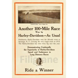 100 MILE RACE HARLEY...
